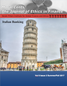 Moral Cents: The Journal of Ethics in Finance (Summer/Fall 2017)