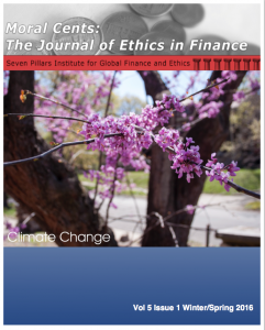 Moral Cents Climate Change Journal Cover